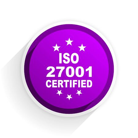 iso: iso 27001 flat icon