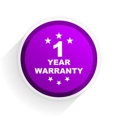 1 year: warranty guarantee 1 year flat icon