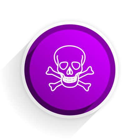 pirating: skull flat icon Stock Photo