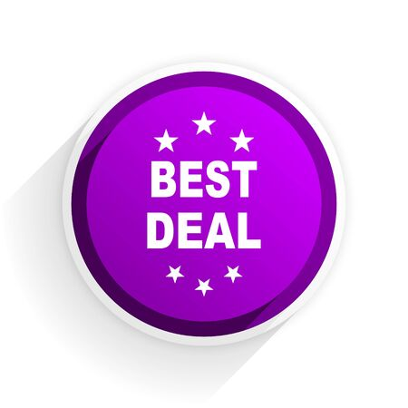 the best: best deal flat icon Stock Photo