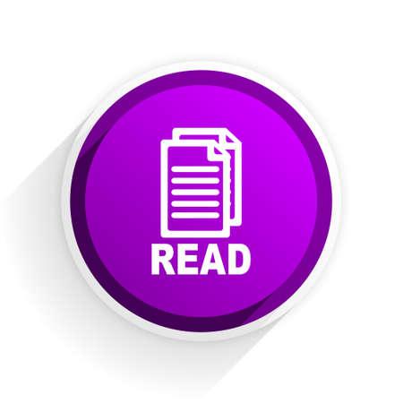 reading app: read flat icon