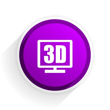 display: 3d display flat icon Stock Photo