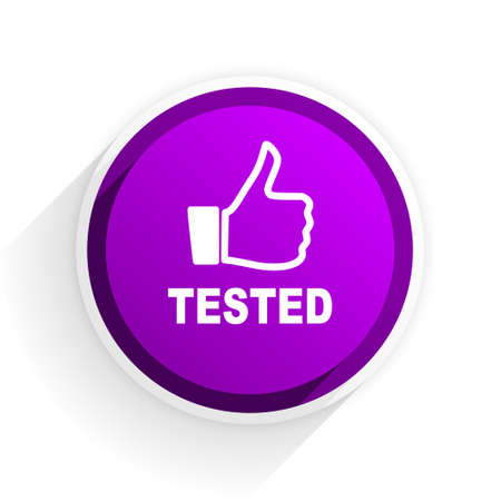 tested: tested flat icon Stock Photo