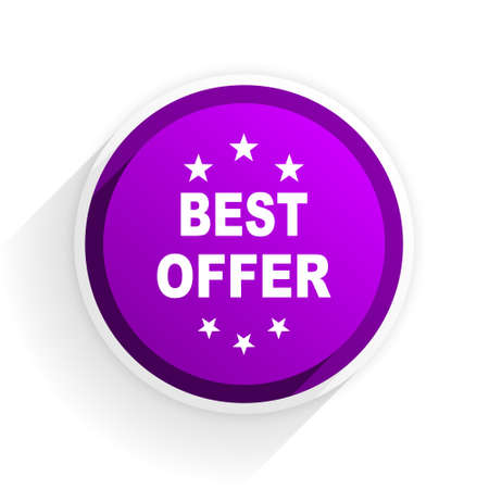 the best: best offer flat icon Stock Photo
