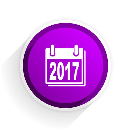 agenda year planner: new year 2017 flat icon Stock Photo