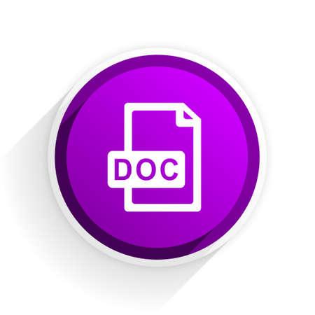 doc: doc file flat icon Stock Photo