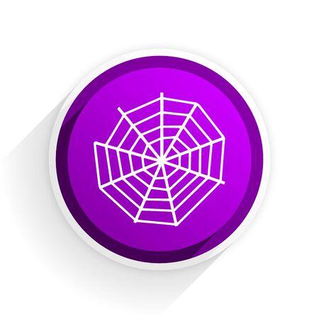 spider web: spider web flat icon Stock Photo