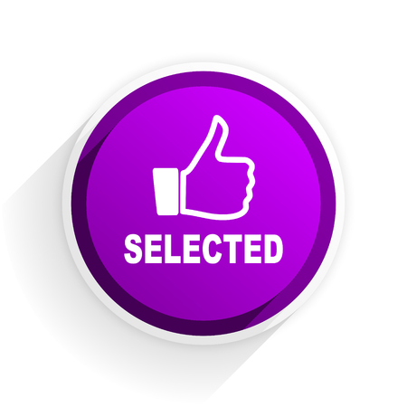 selected: selected flat icon Stock Photo