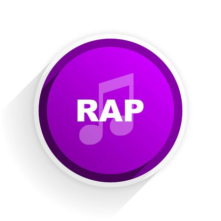 rap music: rap music flat icon