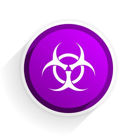 biohazard: biohazard flat icon Stock Photo
