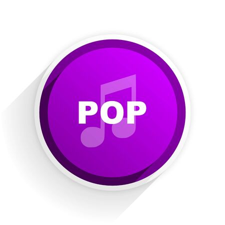 pop music: pop music flat icon Stock Photo