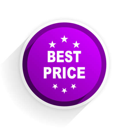 the best: best price flat icon