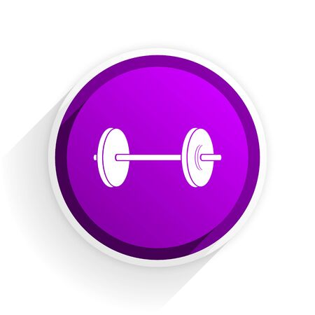 circular muscle: fitness flat icon Stock Photo