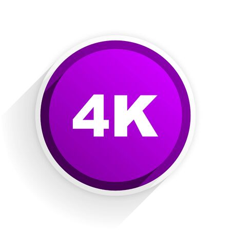 hdtv: 4k flat icon Stock Photo