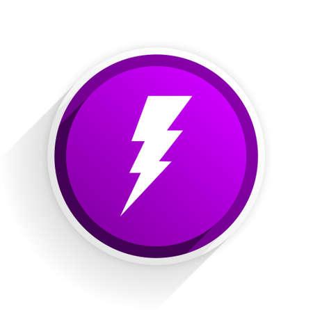 bolt: bolt flat icon Stock Photo
