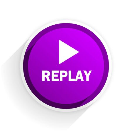 proceed: replay flat icon Stock Photo