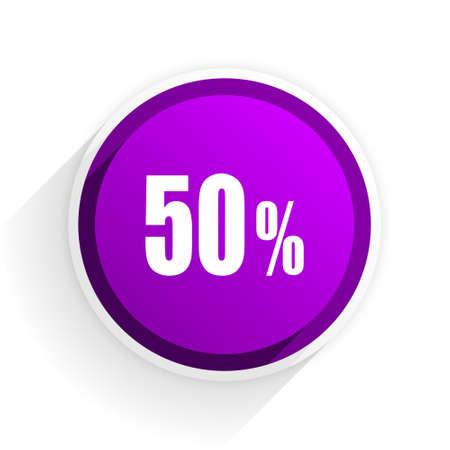 50: 50 percent flat icon Stock Photo