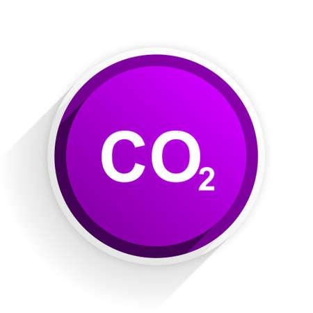 dioxide: carbon dioxide flat icon Stock Photo