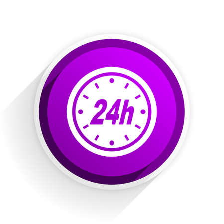 24h: 24h flat icon Stock Photo