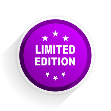 edition: limited edition flat icon Stock Photo