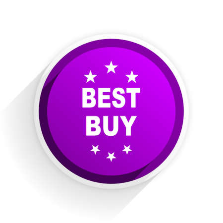 best buy: best buy flat icon Stock Photo