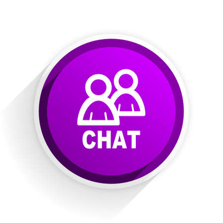 chat: chat flat icon Stock Photo