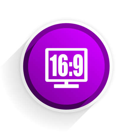 16 9 display: 16 9 display flat icon