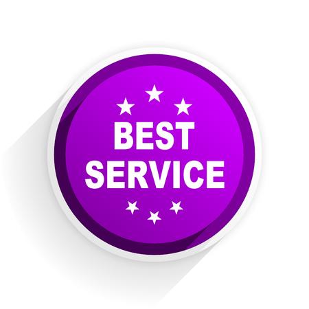 best service: best service flat icon
