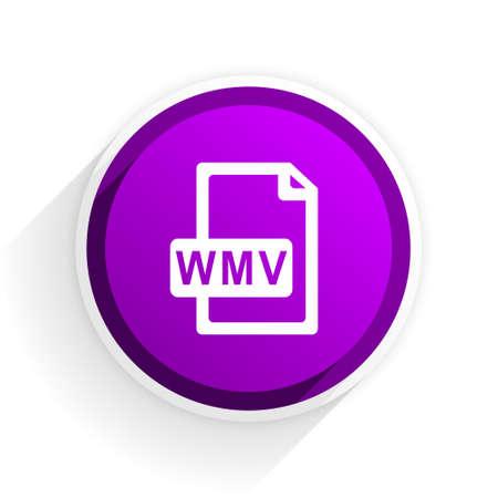 wmv: wmv file flat icon Stock Photo