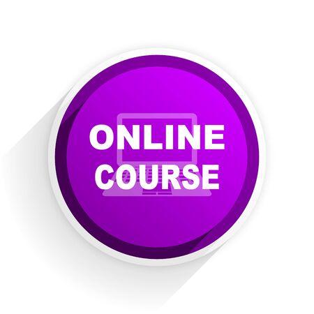 course development: online course flat icon