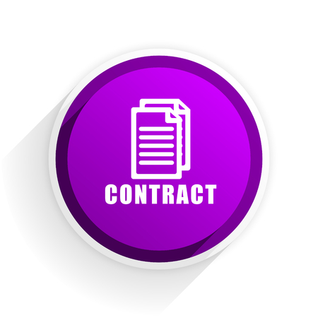 pact: contract flat icon Stock Photo