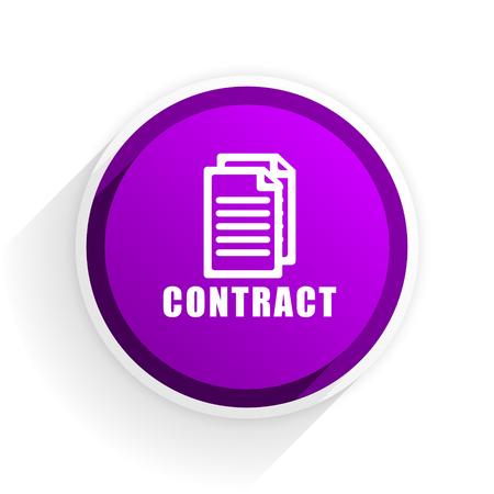 pacto: contratar icono plana Foto de archivo