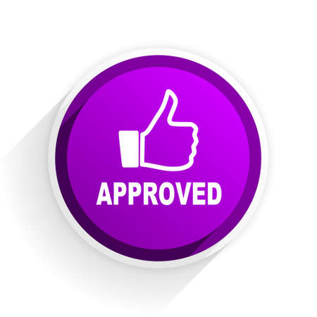 approved: approved flat icon Stock Photo