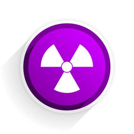 radiacion: icono plano de radiaci�n