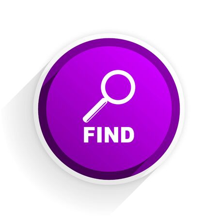 find: find flat icon