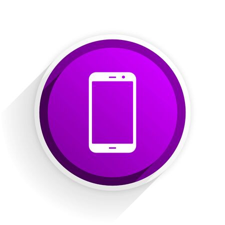 smartphone icon: smartphone flat icon Stock Photo