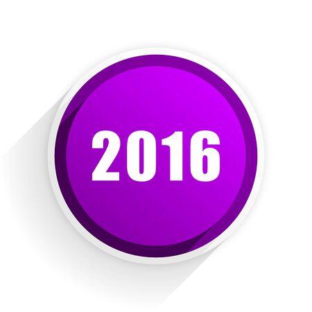year: year 2016 flat icon