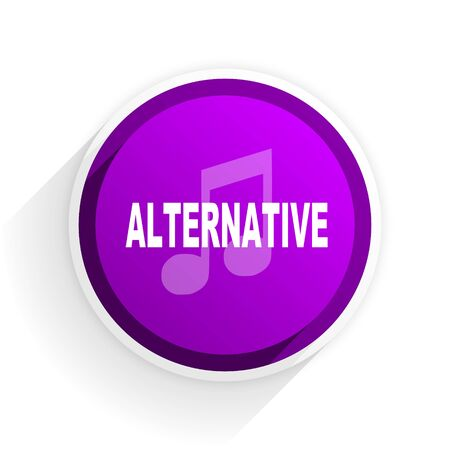 alternative: alternative music flat icon
