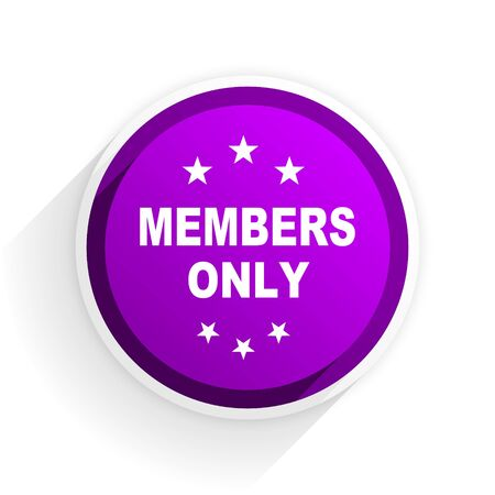 private club: members only flat icon