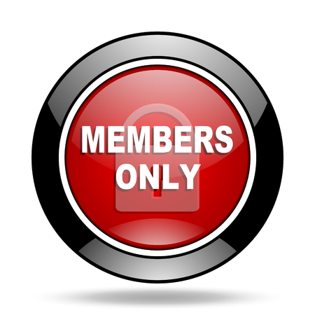 private club: members only icon Stock Photo