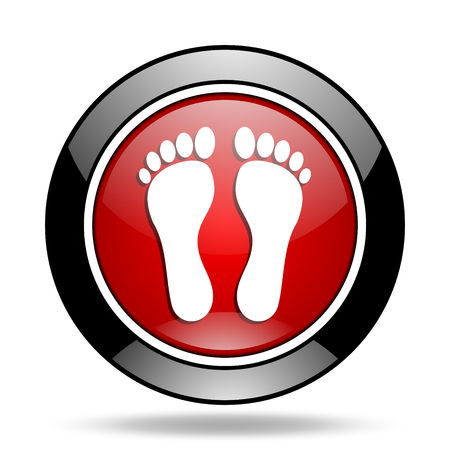 original ecological: foot icon Stock Photo