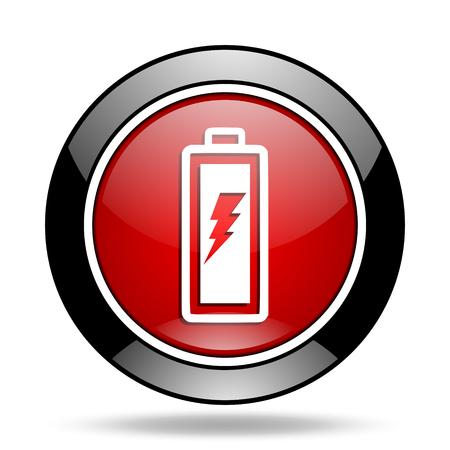 original ecological: battery icon Stock Photo