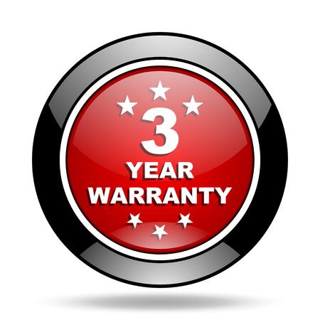warranty: warranty guarantee 3 year icon