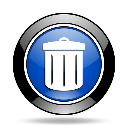 glossy icon: recycle blue glossy icon