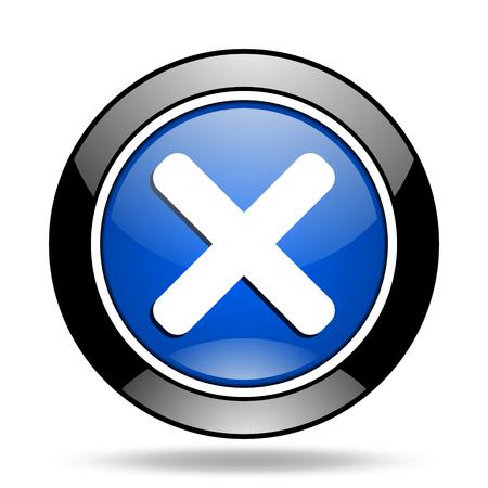 cancel blue glossy icon Stock Photo