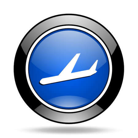 aeroplanes: arrivals blue glossy icon
