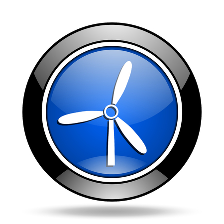 glossy icon: windmill blue glossy icon
