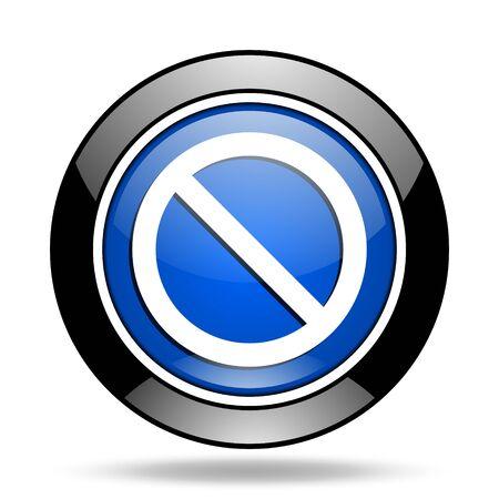 denied: access denied blue glossy icon Stock Photo