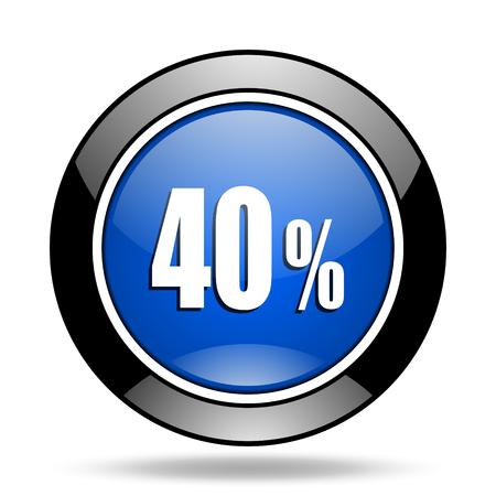 40: 40 percent blue glossy icon