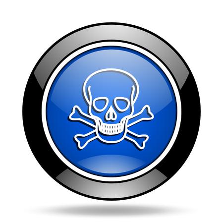 pirating: skull blue glossy icon